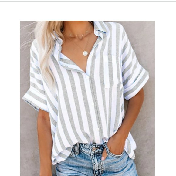 NEW Buttoned Down Work Daily Striped Shirt